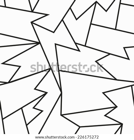 monochrome cracked seamless pattern (raster version) - stock photo