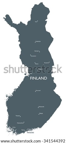 Monochrome Finland map