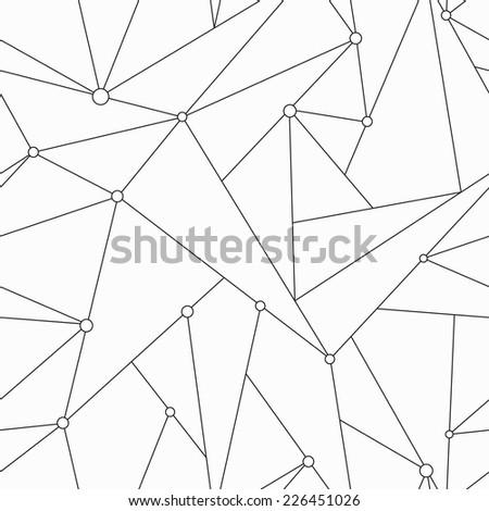 monochrome technology triangle seamless texture (raster version) - stock photo
