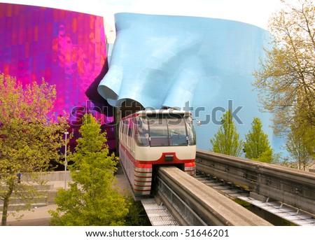 Monorail - stock photo