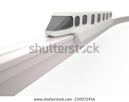 Monorail, 3D - stock photo