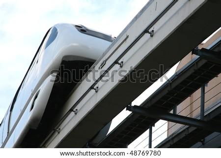 Monorail train - stock photo