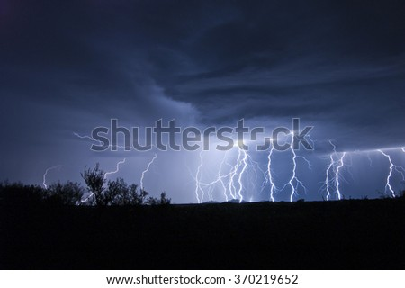 Monsoon Cloud-To-Ground Lightning