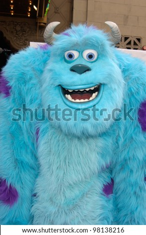 Monsters, Inc character JAMES P. SULLIVAN at the world premiere of Disney/Pixar's Monsters, Inc., at the El Capitan Theatre, Hollywood. 28OCT2001.   Paul Smith/Featureflash - stock photo