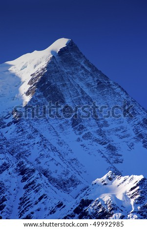 Mont Blanc, Chamonix, French Alps. France. - stock photo