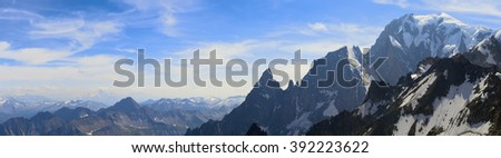 Mont Blanc panorama - stock photo