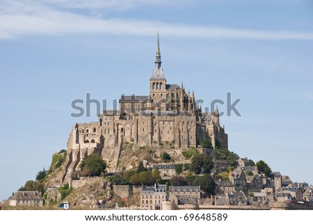 Mont Saint Michel. Breta�±a. Francia - stock photo