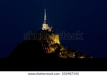 Mont-Saint-Michel, Normandy, France - stock photo