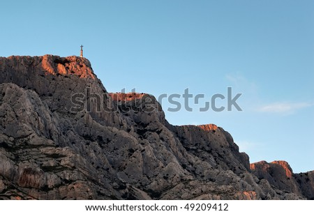 Mont Sainte Victoire in Provence, France - stock photo