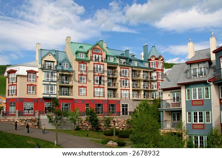 Mont Tremblant in summer - stock photo