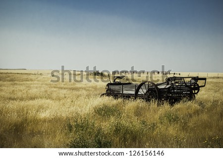 Montana plains - stock photo