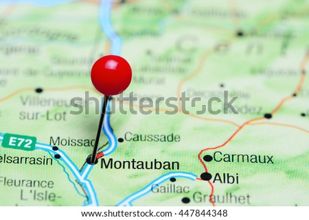 Montauban Pinned On Map France Stock Photo 447844348 Shutterstock