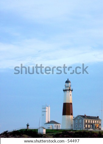 Montauk Montauk Point Lighhouse (Photo 2 of 5) - stock photo