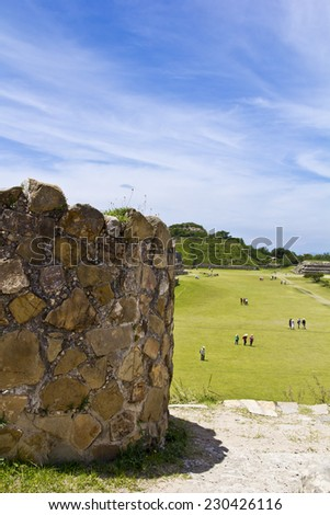Monte Alban Oaxaca - stock photo