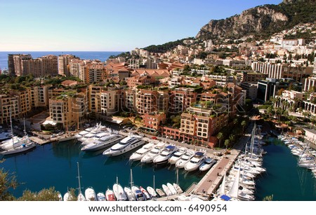 Monte Carlo and Monaco - stock photo