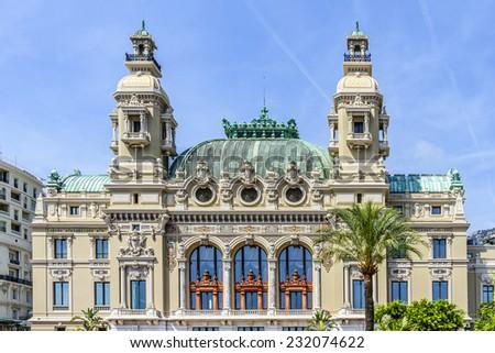 Monte Carlo Casino is a gambling and entertainment complex located in Monte Carlo, Monaco. Complex includes a casino and Grand Theatre de Monte Carlo. Architect - Charles Garnier. Fragment of Opera. - stock photo