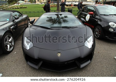 MONTE CARLO, MONACO - MAY 15, 2013: Luxury car Lamborghini at the street near the famous Monte-Carlo Casino, Monaco. - stock photo