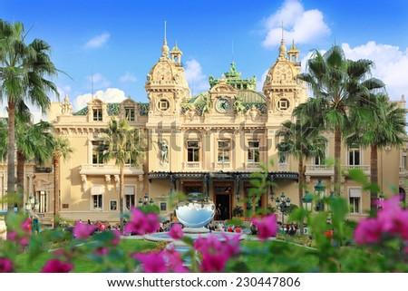 Monte Carlo, Monaco - October 06, 2014: Famous Grand  Casino in Monte Carlo on October 06, 2014 in Monaco. Grand  Casino is  the world's most prestigious Casino opened in 1863.  - stock photo