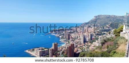 Monte carlo panorama view - stock photo