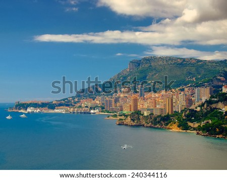 Monte Carlo panorama view,Monaco,Europe - stock photo