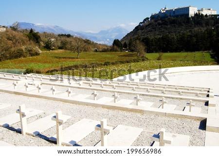 Monte Cassino Cemetary - Italy - stock photo