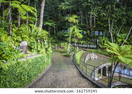 Monte Tropical Gardens Red Japanese Style Stock Photo (Royalty Free ...
