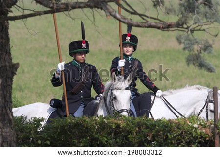 MONTEBELLO DELLA BATTAGLIA, PV, ITALY - MAY 17: 150th Celebration  of Battle of Montebello, Second Italian War of Independence 1859 may 17, 2009 in Montebello della Battaglia, PV, Italy.  - stock photo