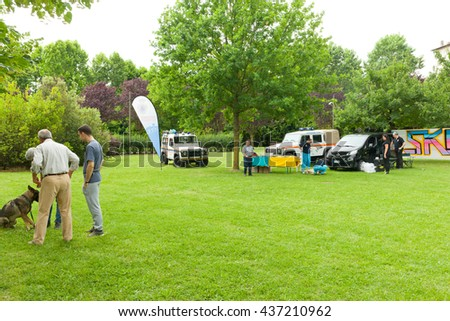 Montelupo Fiorentino, Italy - June 12, 2016: A Dog's Life, event dedicated to the valorization and the dog utilities. Demonstrations held in Ambrogiana park.