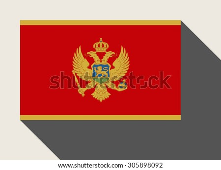 Montenegro flag in flat web design style. - stock photo