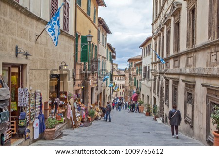 MONTEPULCIANO, ITALY - MAY 4, 2014: Photo of Old city.