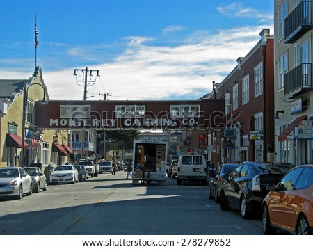MONTEREY, CA - NOVEMBER 15:  Cannery Row Waterfront Street  2012
