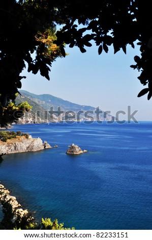 Monterosso al Mare Beach, Cinque Terre, Italy - stock photo