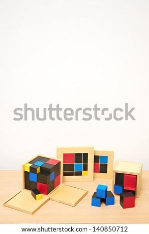 Montessori material - stock photo