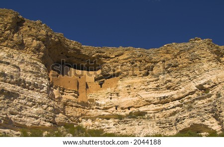 Montezuma Castle, AZ, USA - stock photo