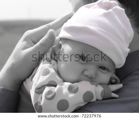 month-old girl - stock photo
