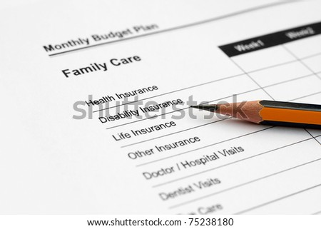 Monthly budget plan - family care