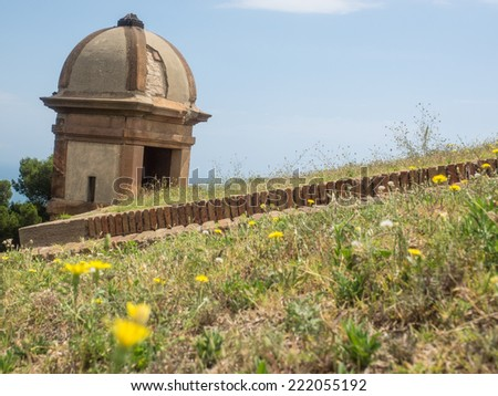 Marvelous Montjuic Castle Is An Old Military Fortress Built On Top Of Montjuic Hill In  Barcelona,
