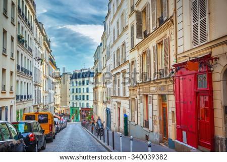 Montmartre in Paris - stock photo