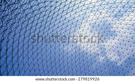 Montreal Biosphere view from Interior  - stock photo