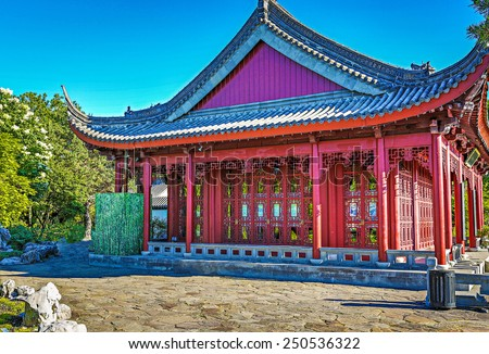 Montreal Chinese Garden. - stock photo