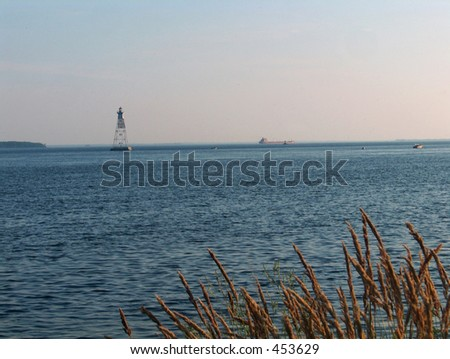 Montreal Dorval St. Lawrence River - stock photo