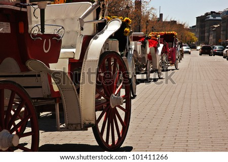 Montreal Horse carriage - stock photo