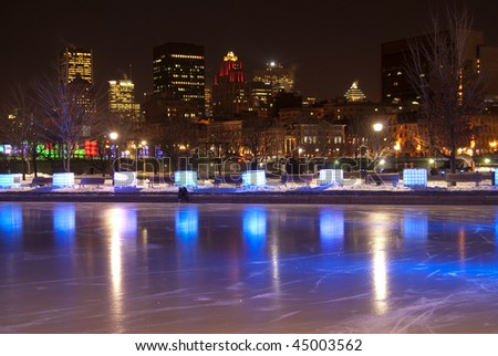 Montreal in the winter - stock photo