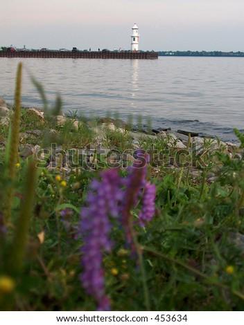 Montreal Lachine Lighthouse - stock photo