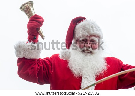 Montreal, November 22, 2015. Santa arriving in Montreal and waving at the crowd at the annual Santa Claus parade on Ste-Catherine street. Canada.