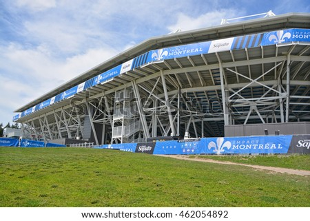 MONTREAL QUEBEC CANADA JULY 30 2016 Saputo Stadium Is A Soccer Specific At