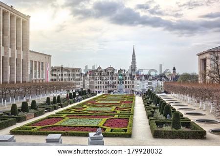 Monts des Arts in Brussels, Belgium - stock photo