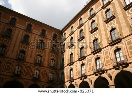 Montserrat buildings in Spain. - stock photo