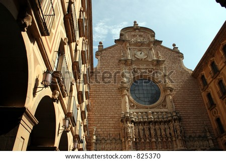 Montserrat in Spain. - stock photo