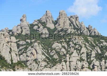 Montserrat mountain, Barcelona, Catalonia, Spain - stock photo